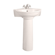 Barclay Evolution Corner Pedestal Sink, 1-Hole Faucet, Bisque Finish