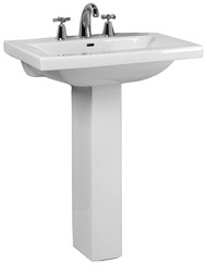 "Barclay Mistral 650 Pedestal Sink, 8"" Widespread, White Finish"
