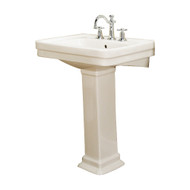 "Barclay Sussex 550 Pedestal Sink, 8"" Widespread, Bisque Finish"