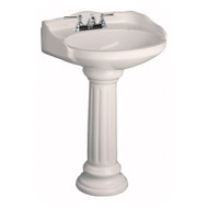 "Barclay Victoria Pedestal Sink, 4"" Centerset Faucet, Bisque Finish"