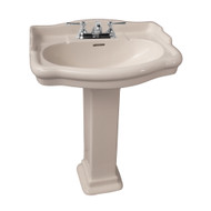 "Barclay StanFord 660 Pedestal Sink, 4"" Centerset Faucet, Bisque Finish"