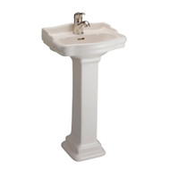 Barclay StanFord 460 Pedestal Sink, 1-Hole Faucet, Bisque Finish