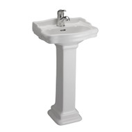 Barclay StanFord 460 Pedestal Sink, 1-Hole Faucet, White Finish
