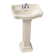 "Barclay StanFord 460 Pedestal Sink, 6"" Mini Widespread, Bisque Finish"