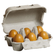 half dozen brown eggs