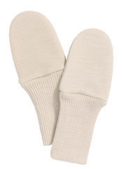 organic merino wool and silk thumbless mittens