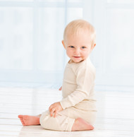 natural silk baby pants