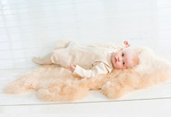 New Zealand lambskin rug, honey