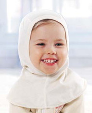 Ruskovilla child's pure silk balaclava bonnet