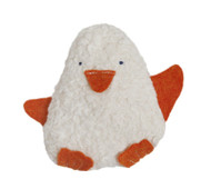 organic cotton penguin rattle