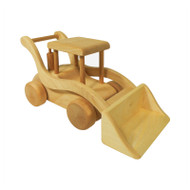 wooden toy front end wheel loader
