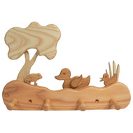 ducks & frog coat rack