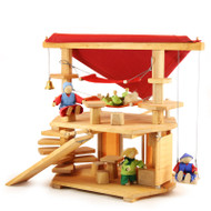 wooden toy dwarf house