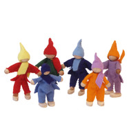 litte wool felt dwarves