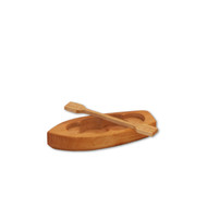 Wooden toy paddle boat.  Made in Germany.