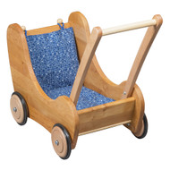wooden dolly pram, made in Germany