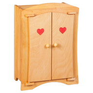 dolly's wardrobe with heart