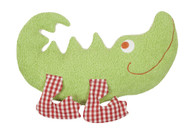 organic cotton and wool plush crocodile