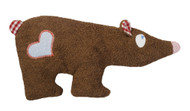 organic cotton and wool plush brown bear