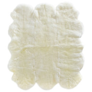 Environmentally-friendly tanned extra large sheepskin rug, made in New Zealand