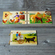 on the farm wooden book