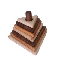 triangular hardwood stacker