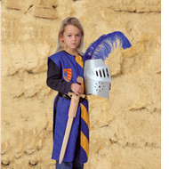 Lancelot tunic, blue-yellow