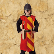 Lancelot tunic, red-yellow