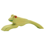 Ostheimer frog jumping, 3 cm high.  Made in Germany.