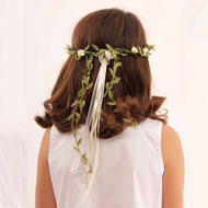 flower crown, white flowers