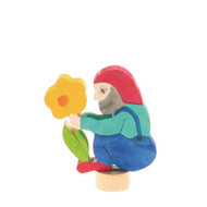 handcoloured dwarf with flower ornament for birthday ring