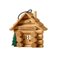 DIY log cabin Christmas Tree Ornament