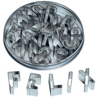 pastry cutters, alphabet