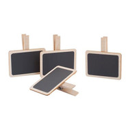 little wooden chalk boards, with chalk