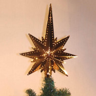 star of Bethlehem brass tree topper