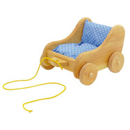 Glueckskaefer wooden dolly pram
