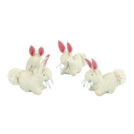 Glueckskaefer wool felt white rabbit