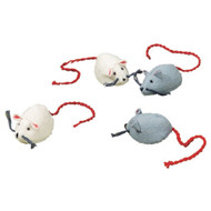 Glueckskaefer wool felt white mouse
