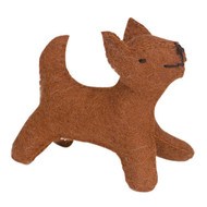 Glueckskaefer wool felt dog, brown