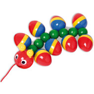 rolling caterpillar pull toy