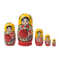 Matryoshka Dolls nesting set, childsafe.  Made in Russia.