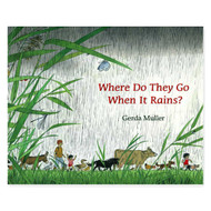 'Where do They Go When it Rains?' by Gerda Muller.  Hardcover, Floris Books.