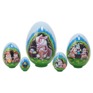 Bunny Bungalow 5-pc nesting Easter egg set