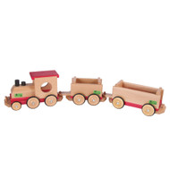 wooden railroad train