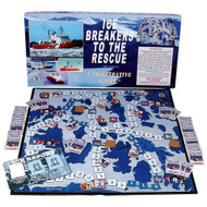 Ice Breakers to the Rescue cooperative board game.  Made in Canada by Family Pastimes.