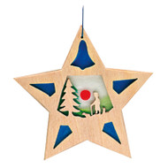 Ostheimer tree decoration star Shepherd with Sheep