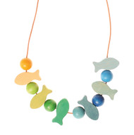 Grimm's blue-green fishes necklace