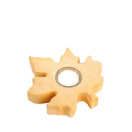 maple leaf wooden tealight candle holder
