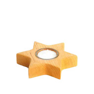 chunky star wooden tealight candle holder