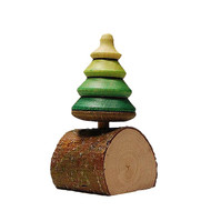 Oh Tannenbaum wooden spinning top